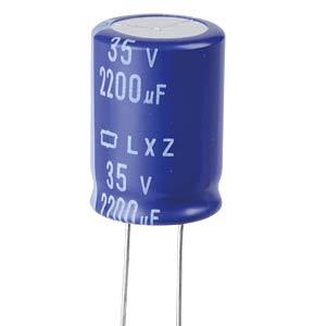 ELKO, 2200 µF, 35 V, 105 °C EUROPE CHEMI-CON ELXZ350ELL222MM25S
