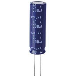 ELKO, 1000 µF, 50 V, 105 °C EUROPE CHEMI-CON ELXZ500ELL102MK40S