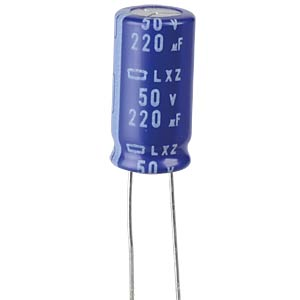ELKO, 220 µF, 50 V, 105 °C EUROPE CHEMI-CON ELXZ500ETD221MJ20S