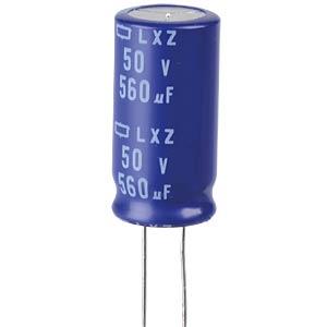ELKO, 560 µF, 50 V, 105 °C EUROPE CHEMI-CON ELXZ500ETE561MK25S