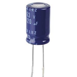ELKO, 120 µF, 63 V, 105 °C EUROPE CHEMI-CON ELXZ630ETD121MJ16S