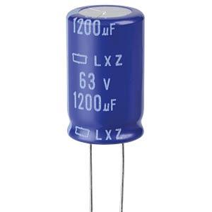 ELKO, 1200 µF, 63 V, 105 °C EUROPE CHEMI-CON ELXZ630ELL122MM30S