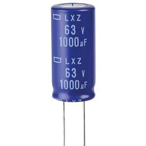 ELKO, 1000 µF, 63 V, 105 °C EUROPE CHEMI-CON ELXZ630ELL102ML35S