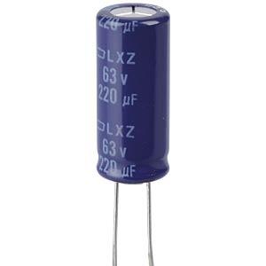 ELKO, 220 µF, 63 V, 105 °C EUROPE CHEMI-CON ELXZ630ETD221MJ25S
