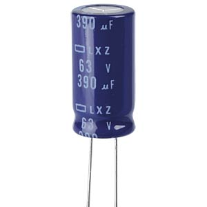 ELKO, 390 µF, 63 V, 105 °C EUROPE CHEMI-CON ELXZ630ETE391MK25S