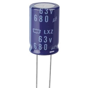 ELKO, 680 µF, 63 V, 105 °C EUROPE CHEMI-CON ELXZ630ELL681ML25S