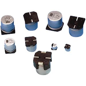 Electrolytic capacitor, SMD design, 105°C, low ESR PANASONIC EEVFK1H102M