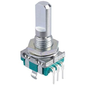 ALPS STEC11B rotary pulse encoder, 20/20, vert., w. PB ALPS 401756