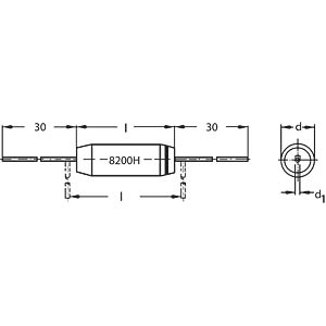Styroflex-Kondensator, 220P, 2 % FREI