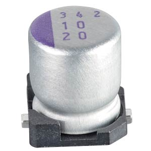 SMD Tantal radial, 10 uF, 20 V, 2000 h, low ESR PANASONIC 20SVP10M
