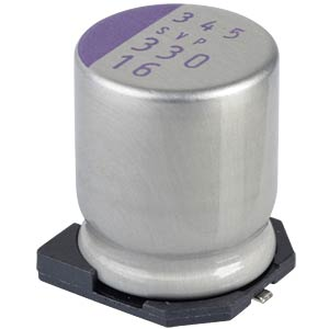 SMD-Polymer-Aluminium, low ESR, 330µ, 16V PANASONIC 16SVP330M