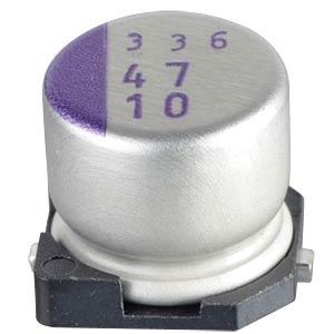 SMD-Polymer-Aluminium, low ESR, 47µ, 10V PANASONIC 10SVP47M