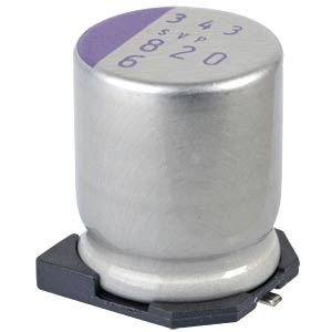 SMD-Polymer-Aluminium, low ESR, 820µ, 6,3V PANASONIC 6SVP820M
