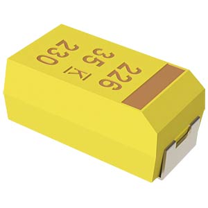 SMD-Tantal, 10µF, 16V, 125°C KEMET T491C106K016AT