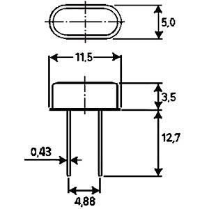 Standardquarz, 3. Oberton, 25,000000 MHz FREI