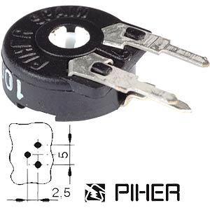 Einstellpotentiometer, stehend, 250 Ohm, 10 mm PIHER PT10LH01-251A2020