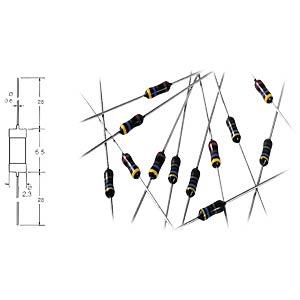 Widerstand, Metallschicht, 6,8 kOhm, 0207, 0,6 W, 0,1% YAGEO MF0207BTD52-6K8