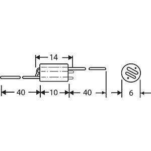 Broadband choke, 0.75 kOhm FASTRON 06H-751-X-00
