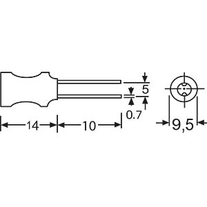 Stehende Induktivität, 09P, 18mH FASTRON 09 P-183 J-50