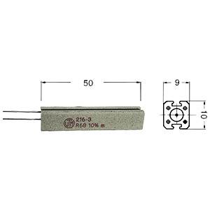 11-Watt wire-wound resistor, series 216  3, 1.0 Ohms VITROHM KV216-310B1R0