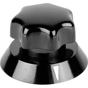 Potentiometerknopf für Achse Ø 6 mm, schwarz MENTOR 320.621