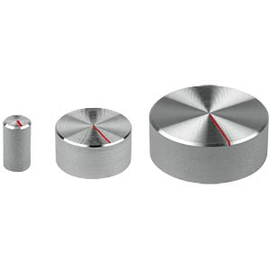 Potentiometerknopf für Achse Ø 6 mm, silber MENTOR 521.611