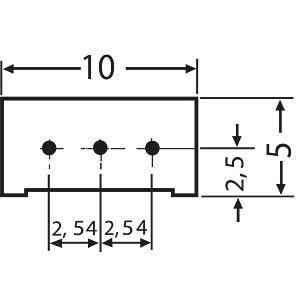 Präzisionspoti. 25 Gänge, stehend, 1,0 K-Ohm FREI