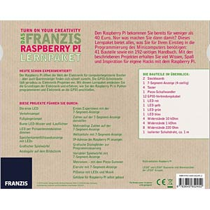 The Franzis Raspberry Pi educational kit FRANZIS-VERLAG 978-3-645-65245-2