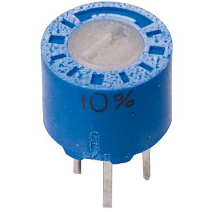 Miniature cermet potentiometer, horizontal, 6 mm, 100 kOhms VISHAY T7YA104KT20