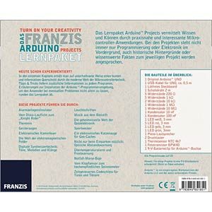 The Franzis Arduino projects educational kit FRANZIS-VERLAG 978-3-645-65185-1