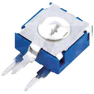 Potentiometer, upright, hexagon, 9 mm, 500 KOhm ARAGONESA DE COMPONENTES CA9MH2,5-500KA2020
