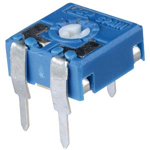 Einstellpotentiometer, liegend, 14mm, 1 MOhm ARAGONESA DE COMPONENTES CA14PV12,5-1MA2020