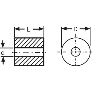 Dämpfungsperle 3,5x7,5mm FREI