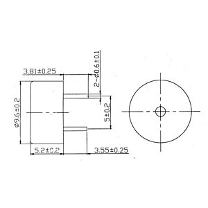 Signalgeber, 80 dB, 2600 Hz, Print, m.A. EKULIT AL-10SP05HT