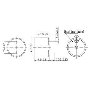 Signalgeber, 92 dB, 2300 Hz, Print, m.A. EKULIT AL-60SP05HT