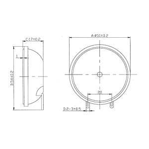 Piezolautsprecher, 95 dB, 22 kHz, Lötanschluss EKULIT 183010