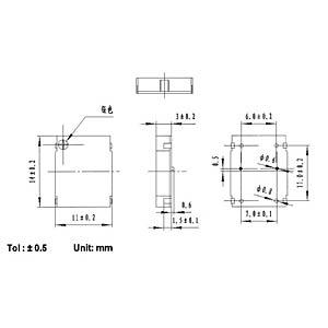 Signalgeber, 80 dB, 3,0 V, 3200 Hz, SMD EKULIT SMD-1411A03