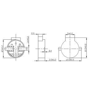 Signal generator, 94 dB, 3.0 V, 3000 Hz, SMD EKULIT SMD-P09B03