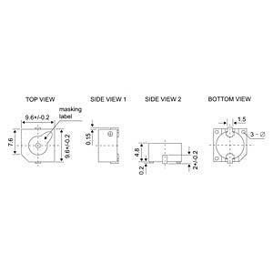 Signal generator, 85 dB, 2700 Hz, SMD, m.A. EKULIT SMD-10D05
