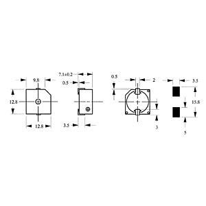 Signalgeber, 85 dB, 2400 Hz, SMD, m.A. EKULIT SMD-13D05