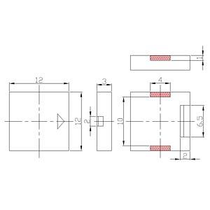 Piezo buzzer, 75 dB, 3.0 V, 4000 Hz, SMD EKULIT SMD-P12A03
