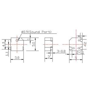 Signalgeber, 74 dB, 3,0 V, 4000 Hz, SMD EKULIT SMD-05A03