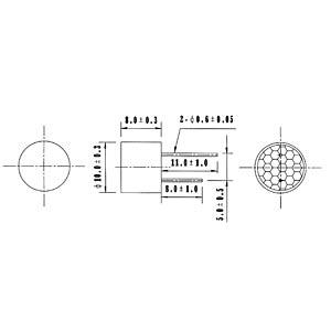 Ultraschallsensor, > 98 dB, > -74 dB EKULIT 700505