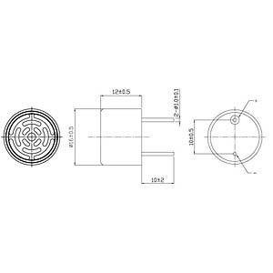 Ultraschallsensor, > 120 dB, > -60 dB EKULIT 700640