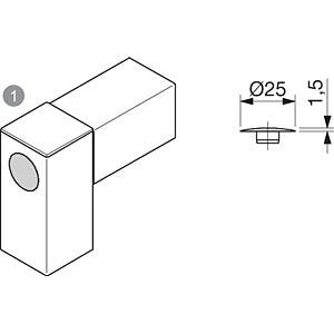 Abdeckkappe 40+ für M12-Verbindung FLEXLINK J5372389800