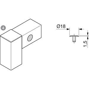 Abdeckkappe 40+ für Zentralverbinder FLEXLINK J5372479800