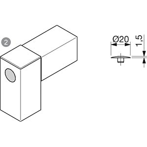 Abdeckkappe 40+ für M8-Verbindung FLEXLINK J5372499800