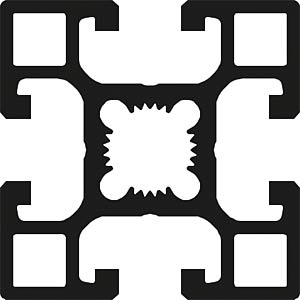 Profil 40+ offen B 40x40 100cm FLEXLINK J9241849700100