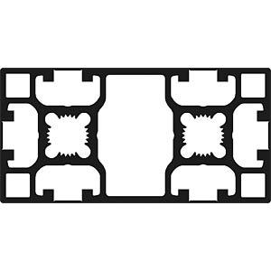 Profil 40+ geschl. BC 40x80 100cm FLEXLINK J9241876100100