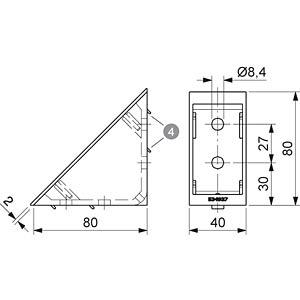 Verbinder Eck 40+ komplett 40x80, si FLEXLINK J9244200099